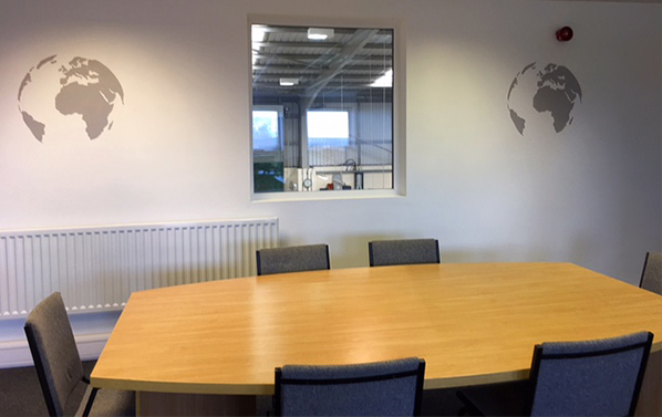 Welcoming Customers to our new boardroom and offices…… Sales and Design studio in progress